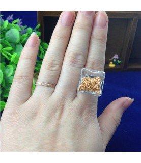 Comprar Set anillo con cristal cuadrado de 18mm de Conideade