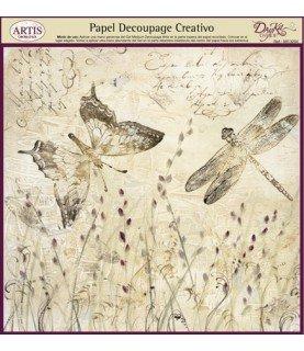 Comprar Papel decorativo para pegar mod libelulas de Conideade