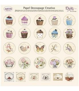 Papel decorativo para pegar mod dibujos varios