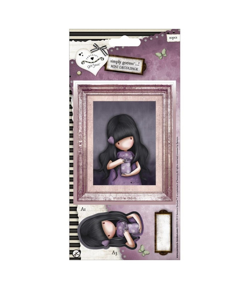 Pack mini decoupage gorjuss -We can all shine
