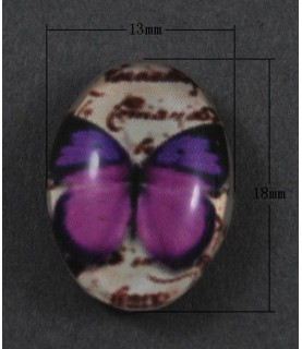 Comprar Cabuchón cristal mariposa morada 18x13mm de Conideade