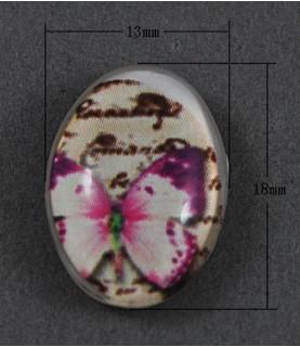 Comprar Cabuchon cristal mariposa lila 18x13mm de Conideade