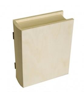 Imagén: Caja de madera en forma de libro