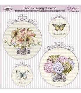 Comprar Papel decorativo para pegarmod floreros de Conideade