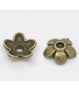 Comprar Pack de 20 casquilla de flor en bronce de Conideade