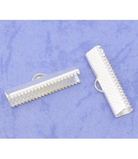 Comprar Terminal dentado 25x7,5mm plateado de Conideade