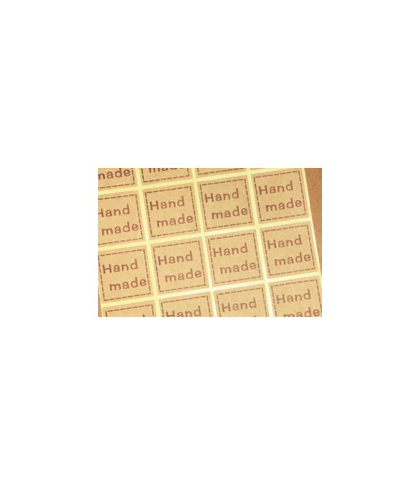 Set de 20 pegatinas hand made cuadrada