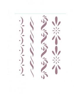 Comprar Plantilla stencil 4 cenefas de Conideade