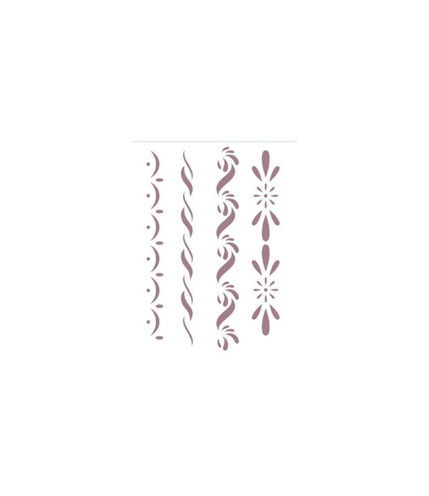 Plantilla stencil 4 cenefas