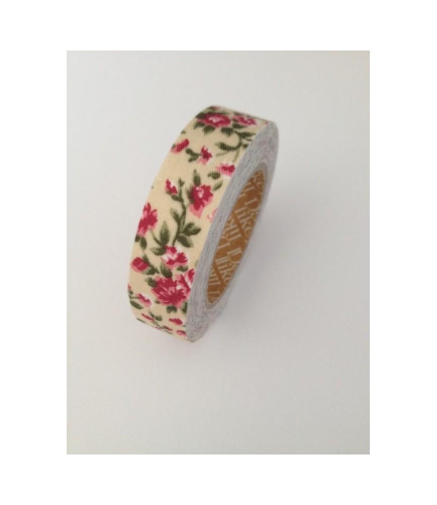 Fabric tape antique Flower beige