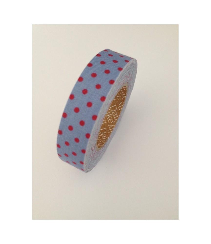 Rollo de Fabric tape topos azul