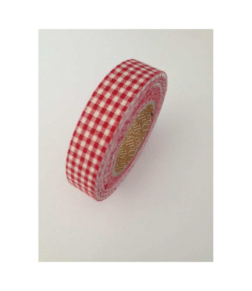 Rollo de Fabric tape vichy rojo