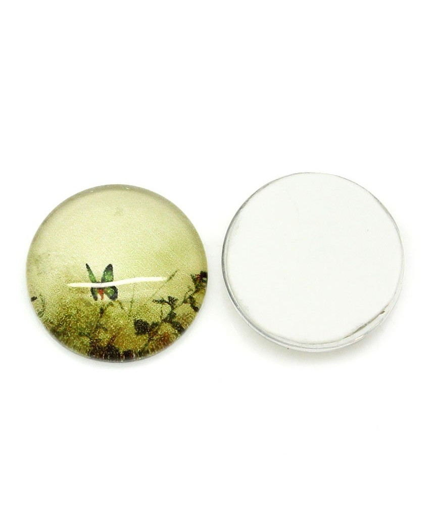 Cabuchon de cristal mariposa 12 mm