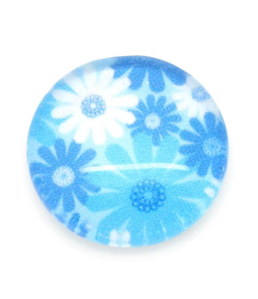 Cabuchon de cristal margaritas azules 12 mm