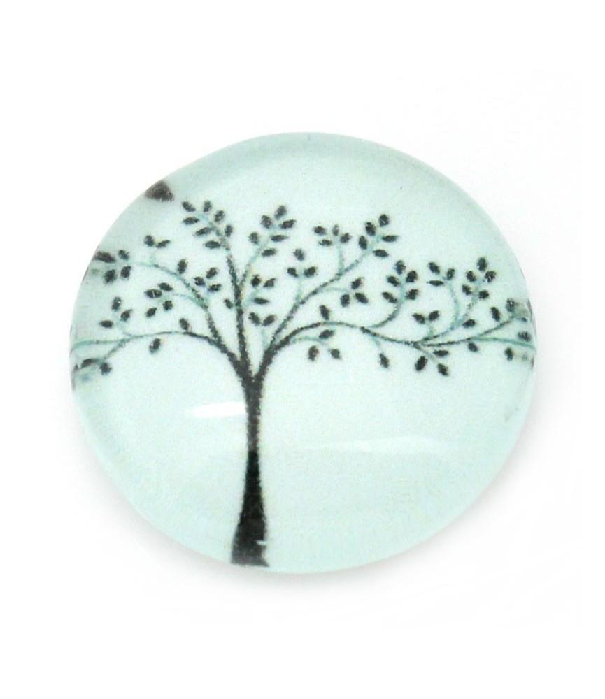 Cabuchon de cristal arbol 12 mm