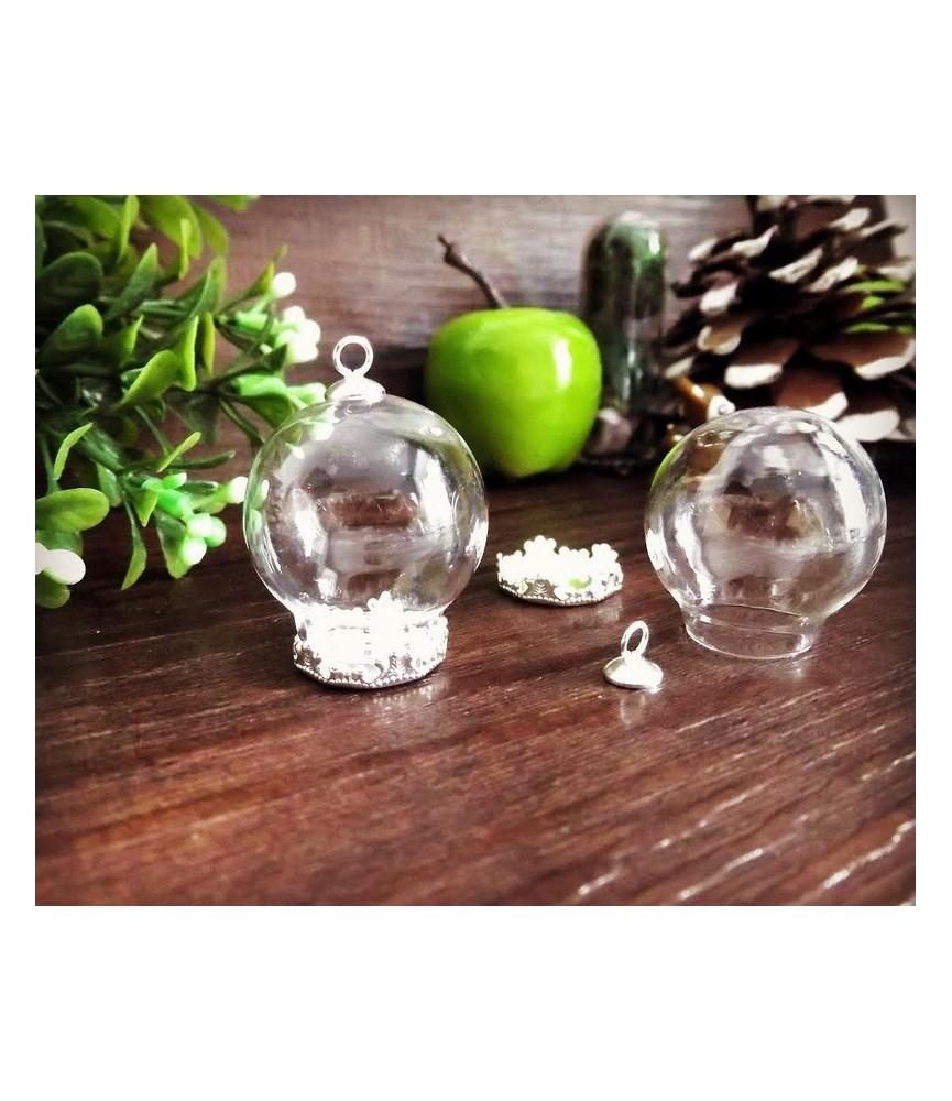 Set de camafeo colgante con esfera de cristal 30mm