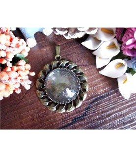 Comprar Set base de camafeo redonda 30 mm con cristal de Conideade
