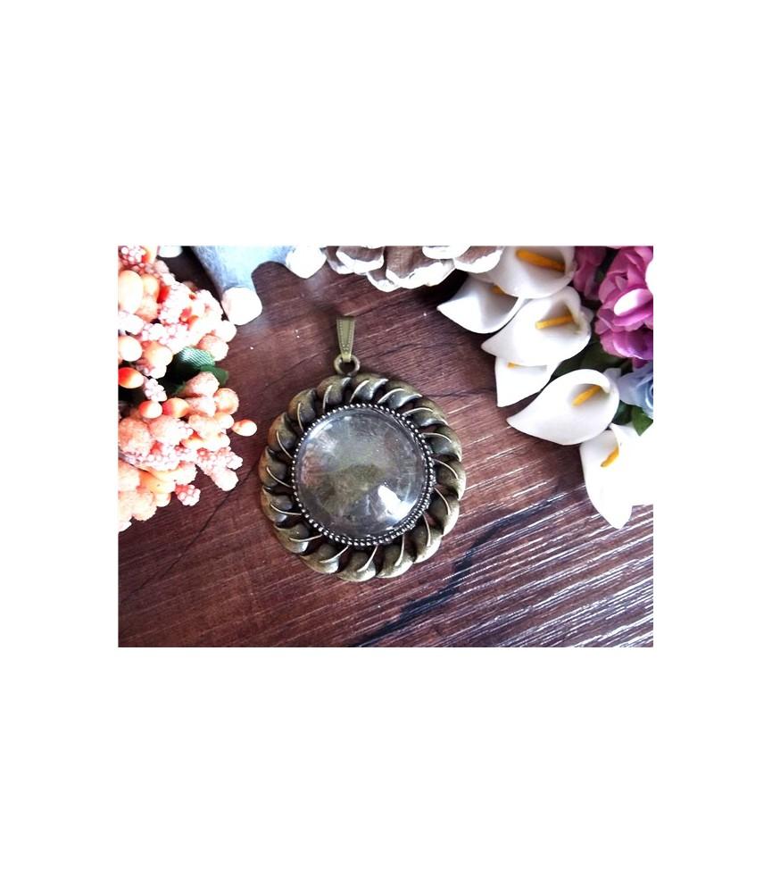 Set base de camafeo redonda 30 mm con cristal