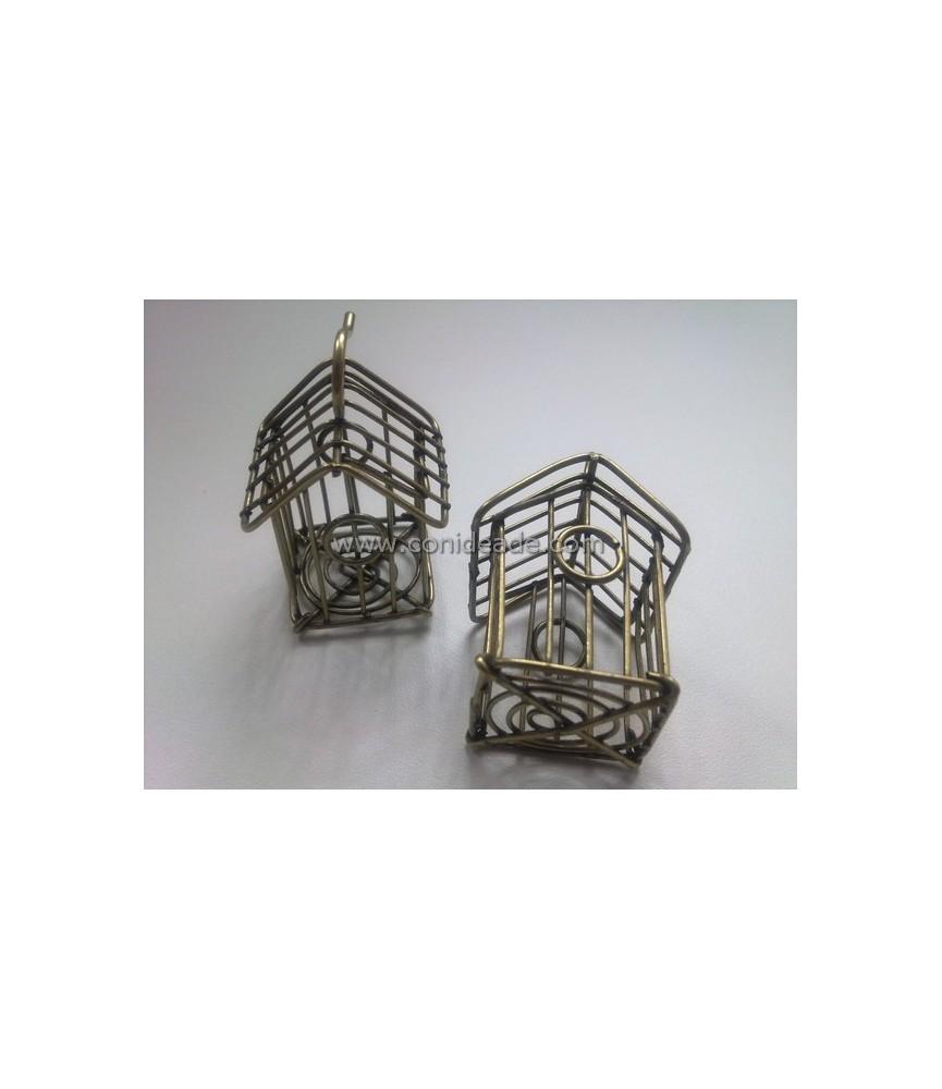 Colgante jaula 3D bronce 5 cm