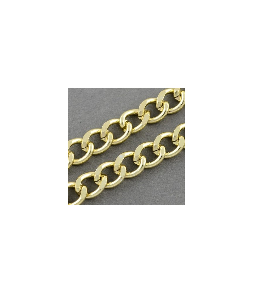 Cadena dorada eslabon 9x7x2 mm