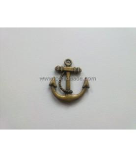 Charm ancla marinera bronce