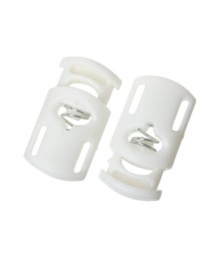 Pack de 2 cierres para cordones blanco