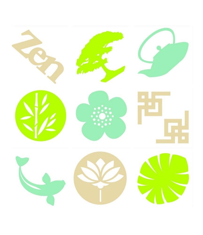 Pack mini siluetas de fieltro zen