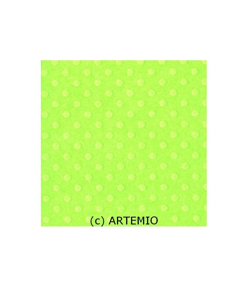 Papel Básico Bazzil puntos verde claro