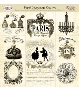 Papel decorativo para pegar mod paris