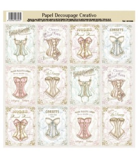 Papel decorativo para pegar mod corsets
