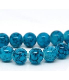 Pack de 10 Cuentas simil piedra en azul de 10 mm