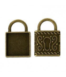 Comprar Base de camafeo candado bronce de Conideade