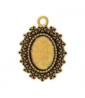 Comprar Base de camafeo florecitas dorado de Conideade