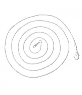 Comprar Cadena de 77 cm cordon plateada de Conideade