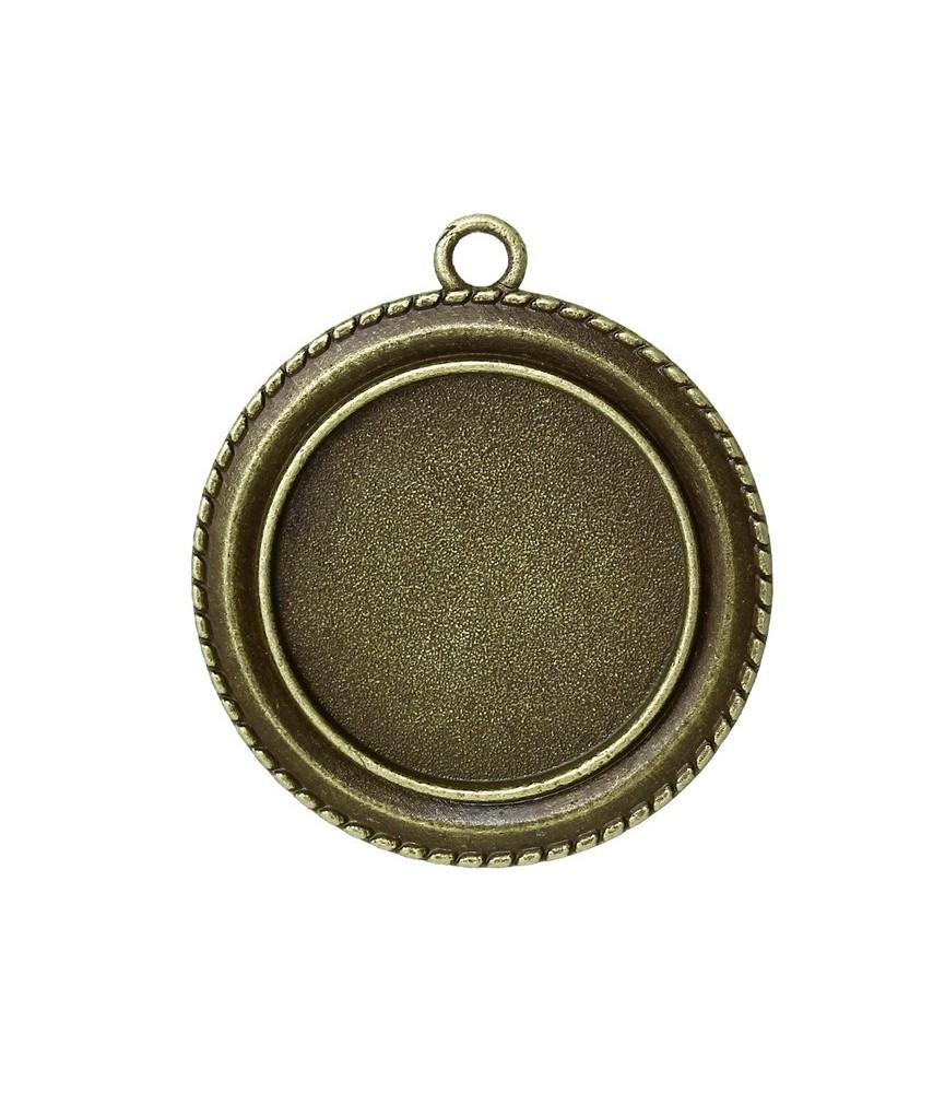 Base de camefeo marco redondo de 25 mm