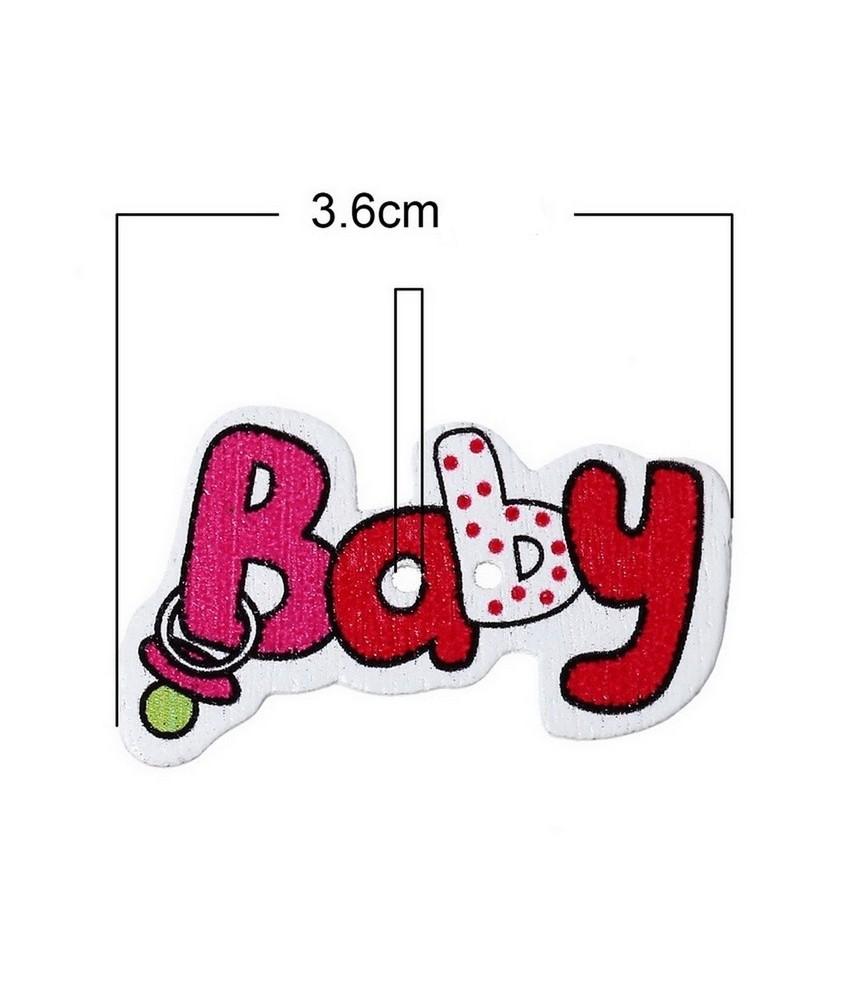 Boton de madera baby