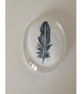 Imagén: Cabuchon cristal pluma 40x30mm