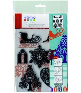 Pack sellos transparentes navidad
