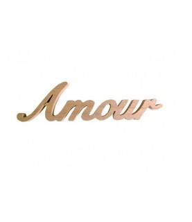 """Palabra de madera """"Amour"""""""