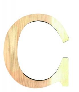 """Letra madera """"C"""""""