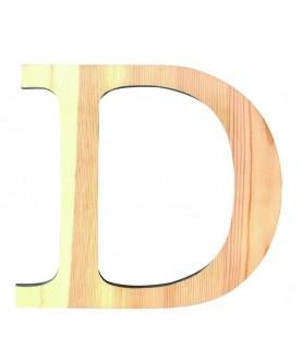 """Letra madera """"D"""""""