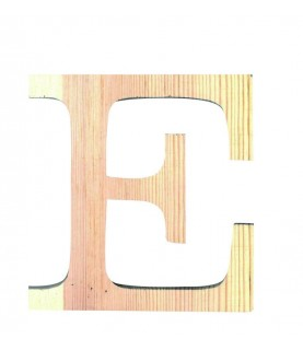 "Letra madera ""E"""