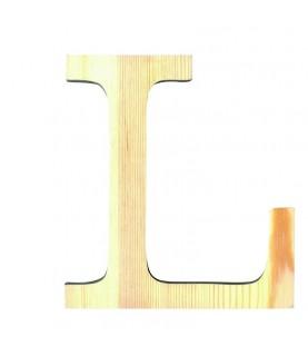 """Letra madera """"L"""""""