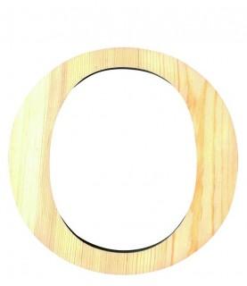 """Letra madera """"O"""""""