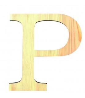 """Letra madera """"P"""""""