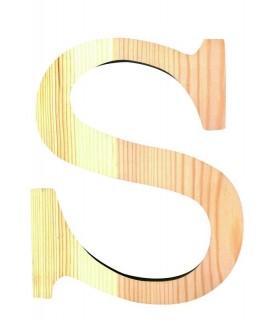 """Letra madera """"S"""""""