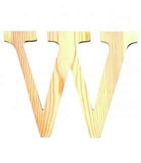 "Letra madera ""W"""