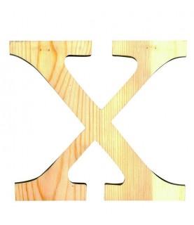"""Letra madera """"X"""""""