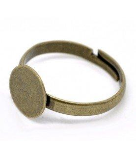 Comprar Anillo ajustable bronce con base de 10mm de Conideade
