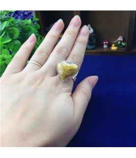 Comprar Set anillo de corazon de cristal de 20 mm de Conideade